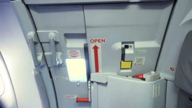 What happens if you try to open an aircraft door mid flight?