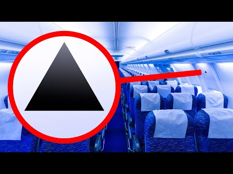 Why Are There Black Triangle Signs In Aircraft Cabin?